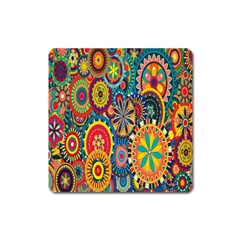 Tumblr Static Colorful Square Magnet by AnjaniArt