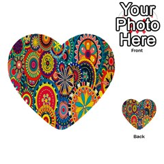 Tumblr Static Colorful Multi Purpose Cards (heart)