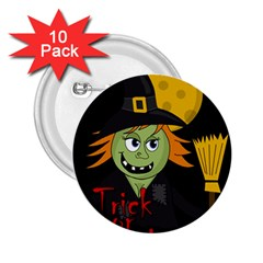 Halloween Witch 2 25  Buttons (10 Pack)  by Valentinaart