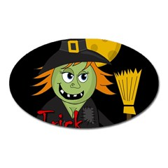 Halloween Witch Oval Magnet by Valentinaart