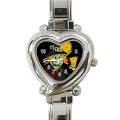 Halloween Witch Heart Italian Charm Watch by Valentinaart