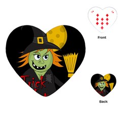Halloween Witch Playing Cards (heart)  by Valentinaart