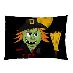 Halloween Witch Pillow Case by Valentinaart