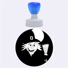 Halloween Witch Rubber Round Stamps (large) by Valentinaart