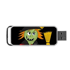 Halloween Witch Portable Usb Flash (two Sides) by Valentinaart