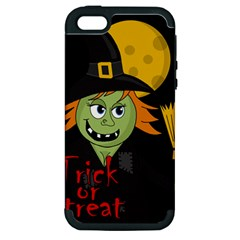 Halloween Witch Apple Iphone 5 Hardshell Case (pc+silicone) by Valentinaart
