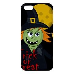 Halloween Witch Iphone 5s/ Se Premium Hardshell Case by Valentinaart