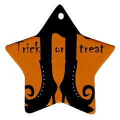 Halloween   Witch Boots Ornament (star)  by Valentinaart
