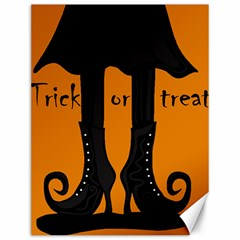 Halloween   Witch Boots Canvas 12  X 16   by Valentinaart