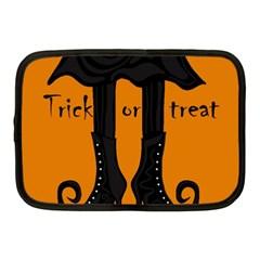 Halloween   Witch Boots Netbook Case (medium)  by Valentinaart