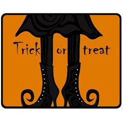 Halloween   Witch Boots Fleece Blanket (medium)  by Valentinaart