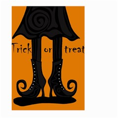 Halloween   Witch Boots Large Garden Flag (two Sides) by Valentinaart