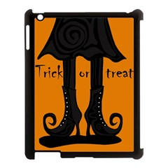 Halloween   Witch Boots Apple Ipad 3/4 Case (black) by Valentinaart