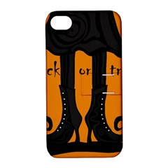 Halloween   Witch Boots Apple Iphone 4/4s Hardshell Case With Stand by Valentinaart