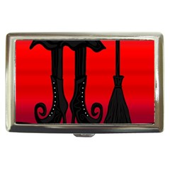 Halloween Black Witch Cigarette Money Cases by Valentinaart