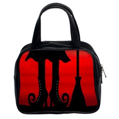Halloween Black Witch Classic Handbags (2 Sides) by Valentinaart
