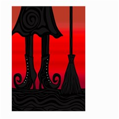 Halloween Black Witch Large Garden Flag (two Sides) by Valentinaart