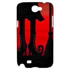 Halloween black witch Samsung Galaxy Note 2 Hardshell Case