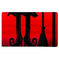 Halloween Black Witch Apple Ipad 2 Flip Case by Valentinaart
