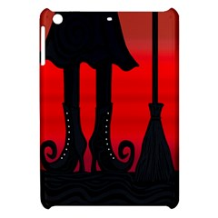 Halloween Black Witch Apple Ipad Mini Hardshell Case by Valentinaart