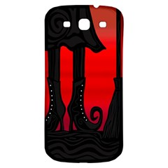 Halloween Black Witch Samsung Galaxy S3 S Iii Classic Hardshell Back Case by Valentinaart