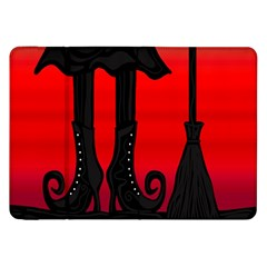 Halloween Black Witch Samsung Galaxy Tab 8 9  P7300 Flip Case by Valentinaart