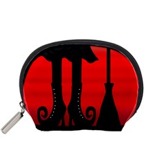 Halloween Black Witch Accessory Pouches (small)  by Valentinaart
