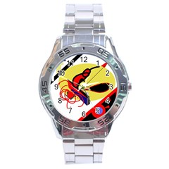 Abstract Art Stainless Steel Analogue Watch by Valentinaart