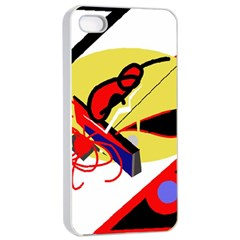 Abstract Art Apple Iphone 4/4s Seamless Case (white) by Valentinaart