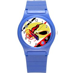 Abstract Art Round Plastic Sport Watch (s) by Valentinaart