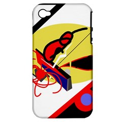 Abstract Art Apple Iphone 4/4s Hardshell Case (pc+silicone) by Valentinaart