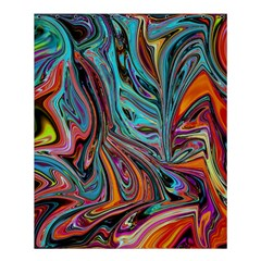 Brilliant Abstract In Blue, Orange, Purple, And Lime Green  Shower Curtain 60  X 72  (medium)  by theunrulyartist