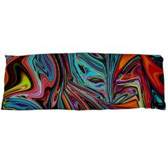 Brilliant Abstract In Blue, Orange, Purple, And Lime Green  Body Pillow Case (dakimakura) by theunrulyartist