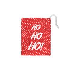Ho Ho Ho Drawstring Pouch (xs) by PhotoThisxyz