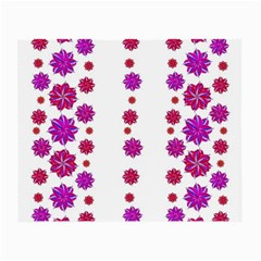 Vertical Stripes Floral Pattern Collage Small Glasses Cloth by dflcprints
