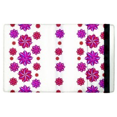 Vertical Stripes Floral Pattern Collage Apple Ipad 2 Flip Case by dflcprints