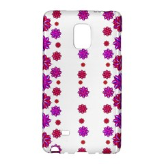 Vertical Stripes Floral Pattern Collage Galaxy Note Edge