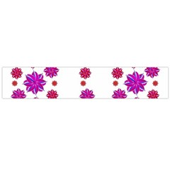 Vertical Stripes Floral Pattern Collage Flano Scarf (Large)  by dflcprints