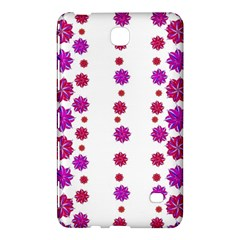 Vertical Stripes Floral Pattern Collage Samsung Galaxy Tab 4 (7 ) Hardshell Case  by dflcprints