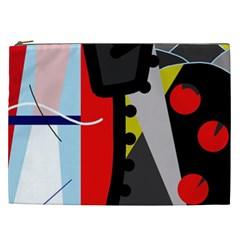 Looking Forwerd Cosmetic Bag (xxl)  by Valentinaart