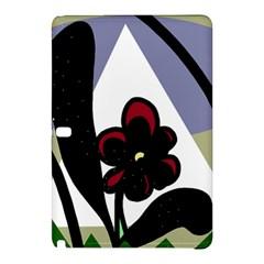 Black Flower Samsung Galaxy Tab Pro 10 1 Hardshell Case by Valentinaart