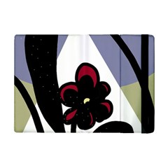 Black Flower Ipad Mini 2 Flip Cases by Valentinaart