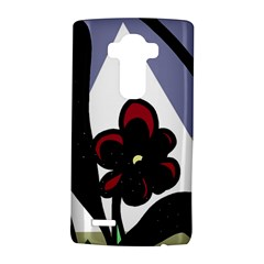 Black Flower Lg G4 Hardshell Case by Valentinaart