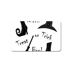Halloween Witch Magnet (name Card) by Valentinaart