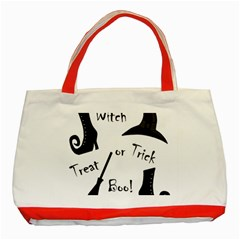 Halloween Witch Classic Tote Bag (red) by Valentinaart