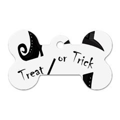 Halloween Witch Dog Tag Bone (one Side) by Valentinaart