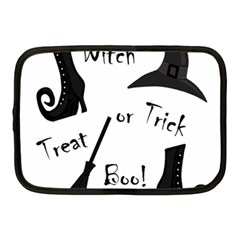 Halloween Witch Netbook Case (medium)  by Valentinaart