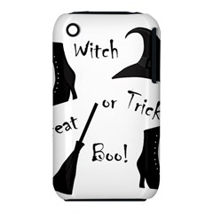 Halloween Witch Apple Iphone 3g/3gs Hardshell Case (pc+silicone) by Valentinaart