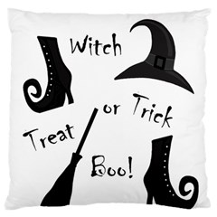Halloween Witch Large Flano Cushion Case (two Sides) by Valentinaart