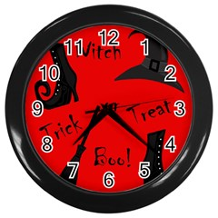 Witch Supplies  Wall Clocks (black) by Valentinaart